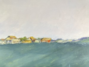 Oil on Canvas Landscape with Farmstead