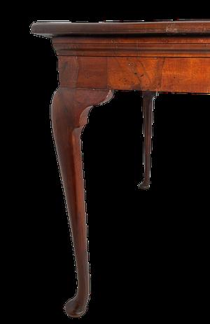 George III Mahogany Serving Table Raised on Elegant Cabriole Legs with Pad Feet