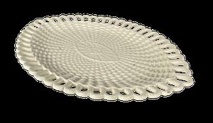 Small Creamware Basketwave Platter