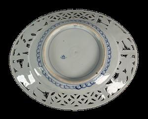 Meiji Period Imari Platter with Pierced Border