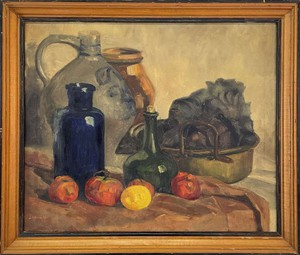 Oil on Canvas of a Tablescape Still Life