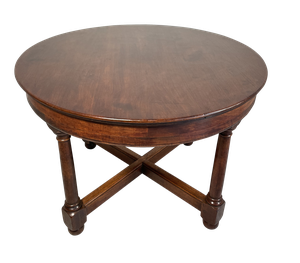 Circular Mahogany Centre Table with Lower Cross Stretcher